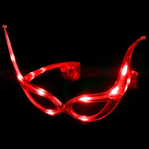 LED Cat Eye Glasses - Red