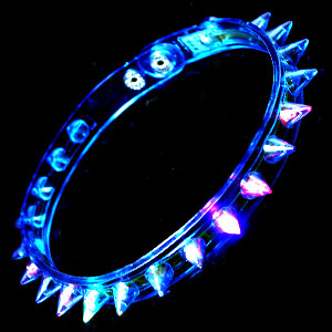 LED Spike Choker Necklace - Blue