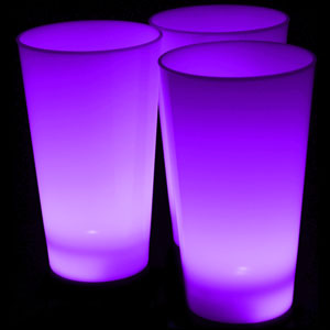 Glow LED Cup - 16 oz. Purple