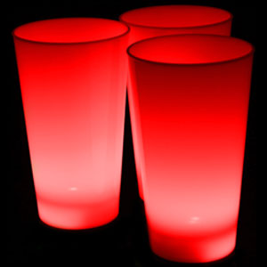 Glow LED Cup - 16 oz Red