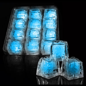LED Ice Cubes - 12 ct Blue