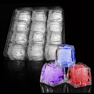 LED Ice Cubes - 12 ct Multicolor