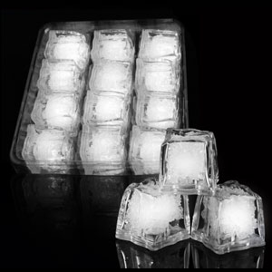 LED Ice Cubes - 12 ct. White