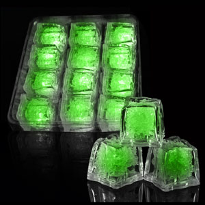 LED Ice Cubes - 12 ct. Green