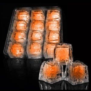 LED Ice Cubes - 12 ct. Orange