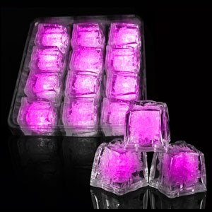 LED Ice Cubes - 12 ct. Pink