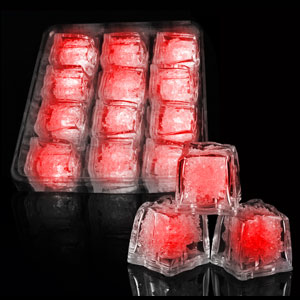 LED Ice Cubes - 12 ct. Red