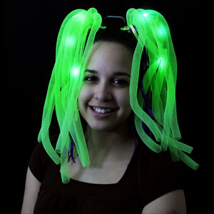 LED Party Dreads - Green