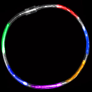 Fun Central R374 LED Light Up Light Chaser Necklace - Multicolor