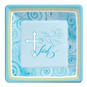 Communion 9 Inch Plates- Blue