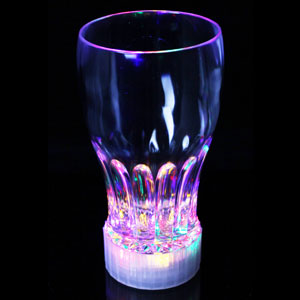 Fun Central R380 LED Light Up 12oz Flashing Cup - Multicolor