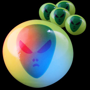 LED Alien Face Bouncing Balls
