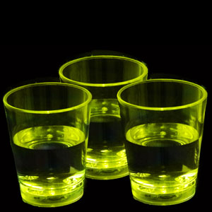 LED Liquid Activated Shot Glass - Yellow