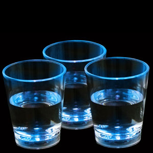 Fun Central G228 LED Light Up Liquid Activated Shot Glass - Blue