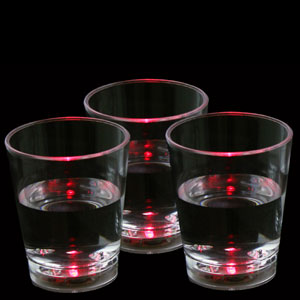 LED Liquid Activated Shot Glass - Red