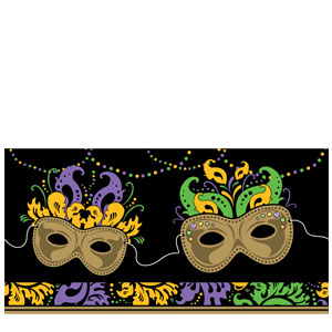 Mardi Gras Magic Plastic Tablecover