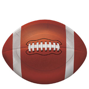 Football Shape 10 Inch Plates