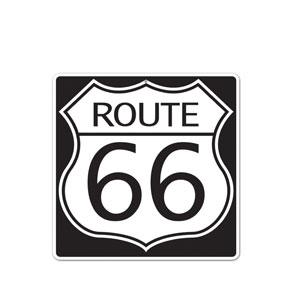 Route 66 Sign Cutout - 16in