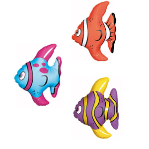 Mini Inflatable Fish- 3ct
