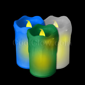 Assorted Wax Candles - 3ct