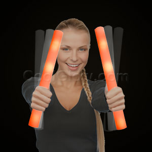 Ready for Imprint - LED Foam Stick Baton Supreme - Orange