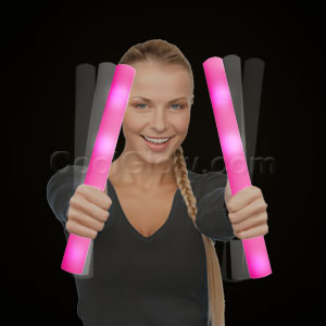 Ready for Imprint - LED Foam Stick Baton Supreme - Pink