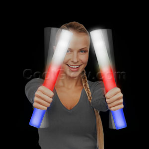 Ready for Imprint - LED Foam Stick Baton Supreme - Red-White-Blue