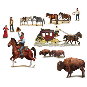 Wild West Character Props- 9ct