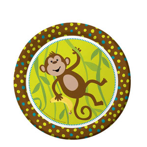 Monkeyin' Around 9 Inch Plates- 8ct