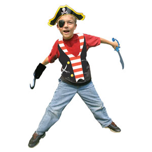 Pirate Plastic Vests- 4ct