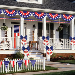 Patriotic Outdoor Decorating Kit - 12pc