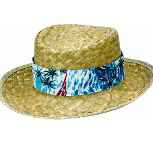 Hawaiian Band Straw Hat