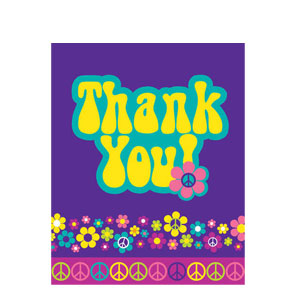 Groovy Girl Thank You Cards- 8ct