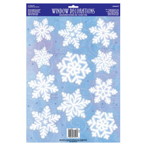 Snowflake Vinyl Window Decorations- 18 Inch