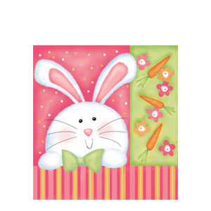 Cheerful Bunny Luncheon Napkins