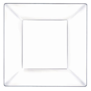 Plastic Square Plate- Clear 10 Inch 10ct