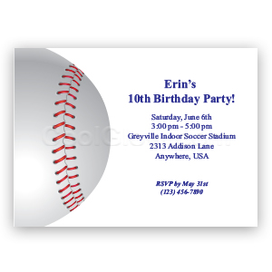 Baseball Party - Custom Invitations