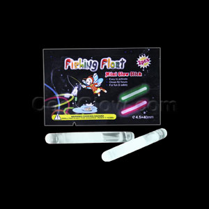 1.5 Inch Retail Packaged Glow Sticks - White