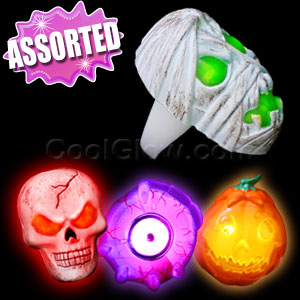 LED Spooky Rings - Assorted