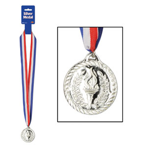 Silver Medal with Ribbon- 30in