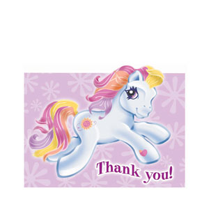 My Little Pony Thank You Cards- 8ct