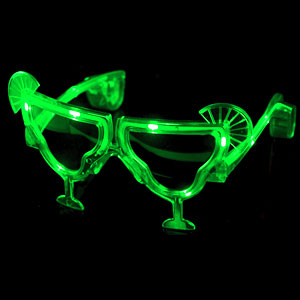 LED Margarita Sunglasses - Green