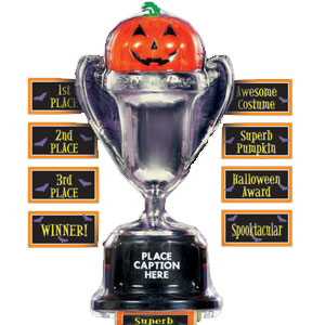 Halloween Multi-Label Trophy- 9in