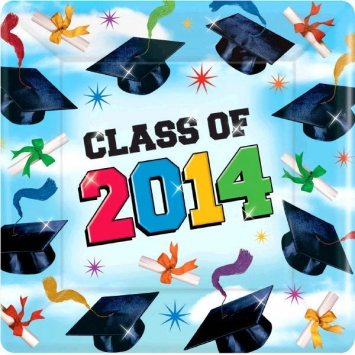 Grad Spirit 2014 Square Plates 7 inches