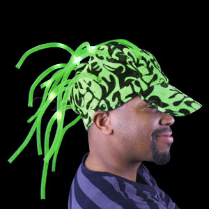 LED Noodle Flame Cap - Green