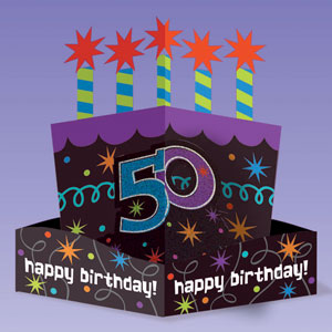 The Party Continues - 50 Die-Cut Centerpiece- 10in