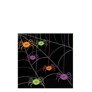 Spider Frenzy Beverage Napkins- 30ct