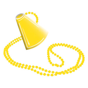 Megaphone Necklace - Yellow