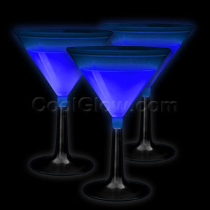 Glow Martini Glass - Blue