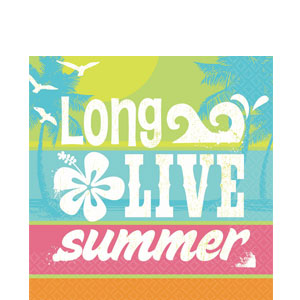 Summer Surf Luncheon Napkins- 16ct